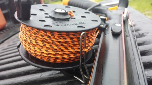 Don't rig the reel like this. The rear line guide looks good but it makes it impossible to level wind the reel.